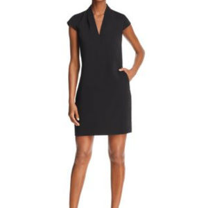 AQUA | V Neck Bodycon Tailored Mini Dress LBD
